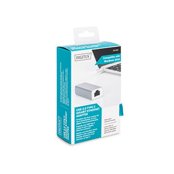 DİGİTUS USB tip-C Gigabit Ethernet Adaptörü DN-3024